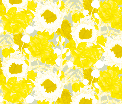 Yellow Bouquet fabric by horn&ivory on Spoonflower - custom fabric