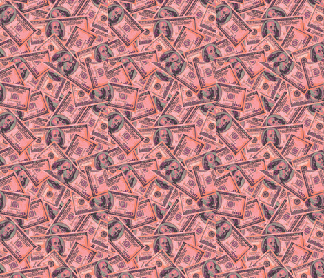 Pink Money fabric by aprildawn on Spoonflower - custom fabric