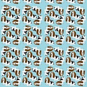 Basset Hound on Light Blue (Micro)