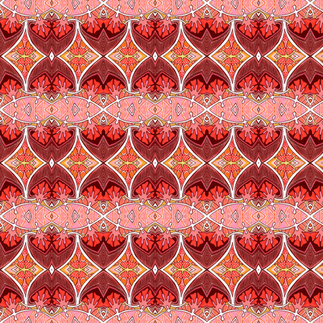 Echo of Deco Fire Flower  fabric by edsel2084 on Spoonflower - custom fabric