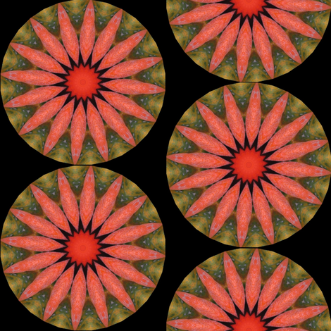 Pumpkin Pie Flowers 1 fabric by dovetail_designs on Spoonflower - custom fabric