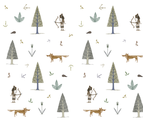 forest friends fabric by beckylong10 on Spoonflower - custom fabric