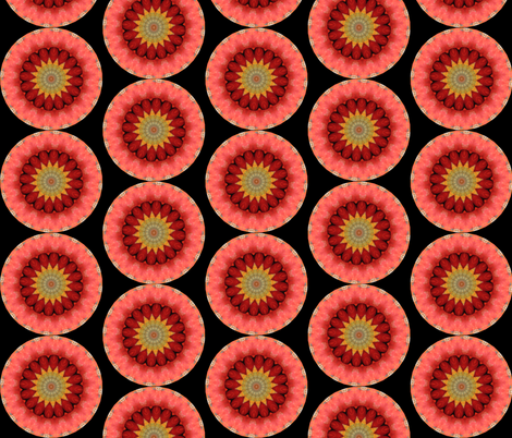 Pumpkin Pie Flowers 2 fabric by dovetail_designs on Spoonflower - custom fabric