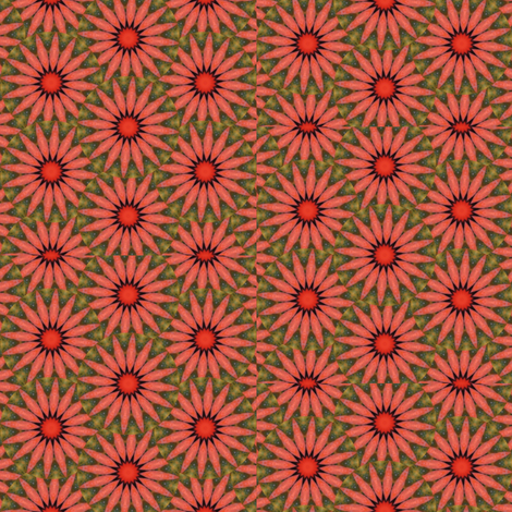 Pumpkin Pie Flowers 3 fabric by dovetail_designs on Spoonflower - custom fabric