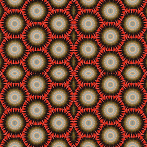 Pumpkin Pie Flowers 9 fabric by dovetail_designs on Spoonflower - custom fabric