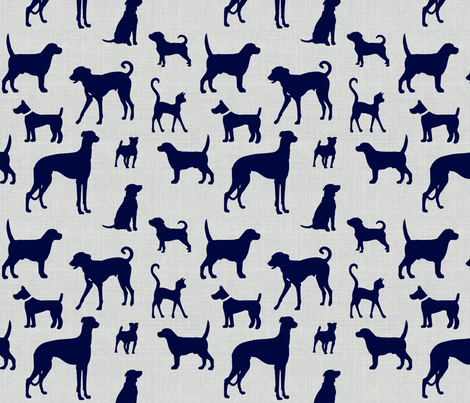 dogsnavytexture60 fabric by ragan on Spoonflower - custom fabric
