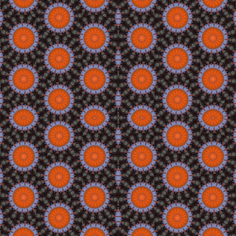 Pumpkin Pie FLowers13 fabric by dovetail_designs on Spoonflower - custom fabric