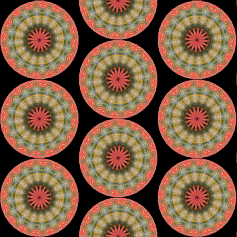 Pumpkin Pie FLowers 14 fabric by dovetail_designs on Spoonflower - custom fabric