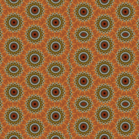 Pumpkin Pie Flowers 17 fabric by dovetail_designs on Spoonflower - custom fabric