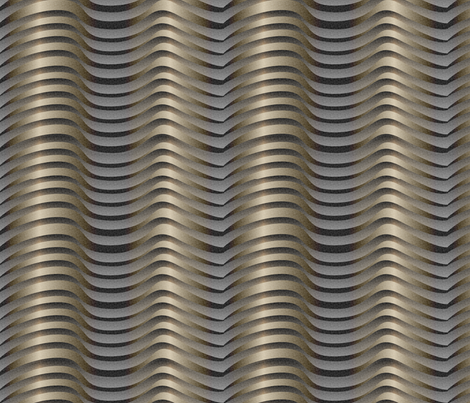 metalwaves_3x fabric by glimmericks on Spoonflower - custom fabric