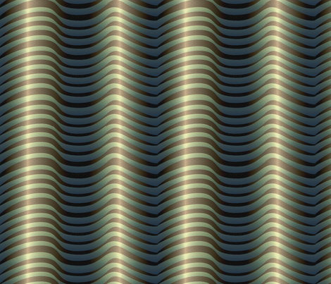 metalwaves_ocean_3x fabric by glimmericks on Spoonflower - custom fabric