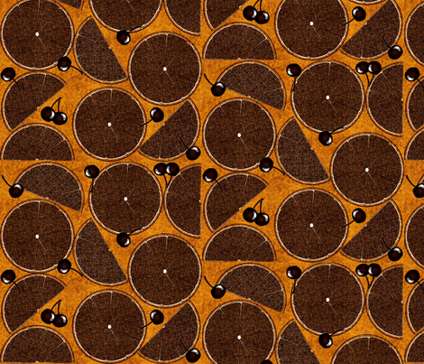 citrus_surprise-orange spice fabric by glimmericks on Spoonflower - custom fabric