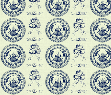 roundfaceframednavybow fabric by ragan on Spoonflower - custom fabric