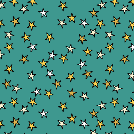 comic stars fabric by scrummy on Spoonflower - custom fabric