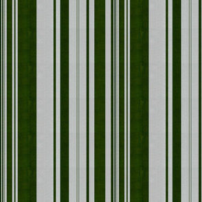 linen uneven stripe green silver
