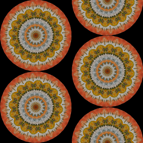 Pumpkin Pie Flowers 18 fabric by dovetail_designs on Spoonflower - custom fabric
