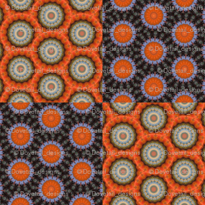 Pumpkin Pie Flowers Checkerboard