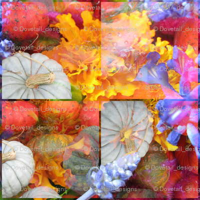 Pumpkins and Flowers 3