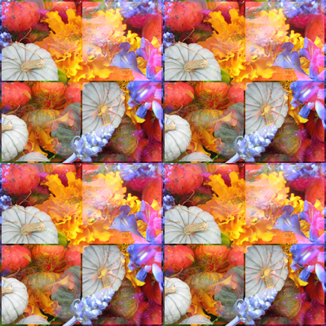 Pumpkins and Flowers 3 fabric by dovetail_designs on Spoonflower - custom fabric