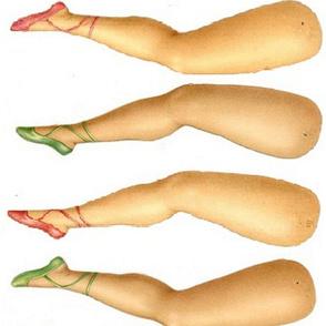 dolls legs - white