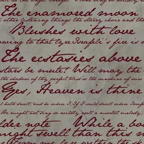 Edgar Allan Poe ~ Israfel ~ Poem in Blood Red on Parchment