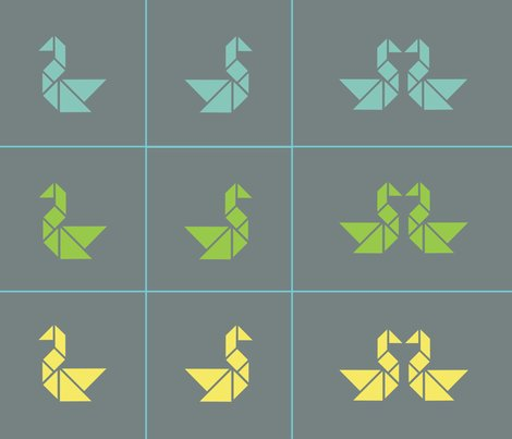 Tangram_swan_cushion-lime__aqua_and_lemon2