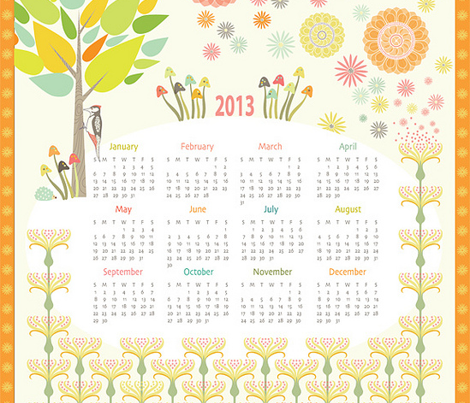 2013 Woodpecker Meadow Calendar
