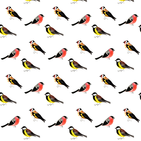 Garden Birds fabric by charm&laundry on Spoonflower - custom fabric