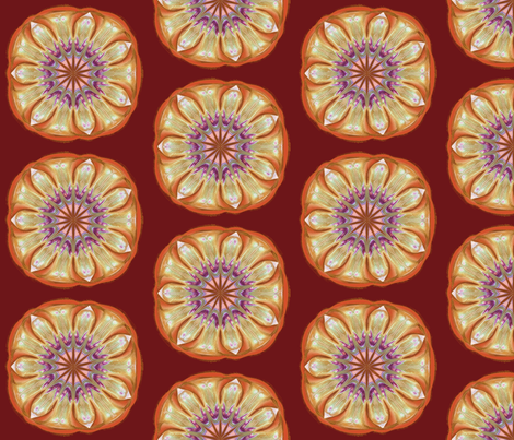Winter_Flower_2___large_half-drop fabric by fireflower on Spoonflower - custom fabric