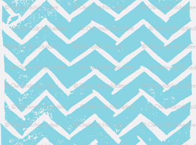 Chevron - Hand Carved Stamp - Sky