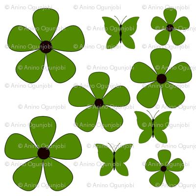 Dark_Apple_green_flower_and_butterflies