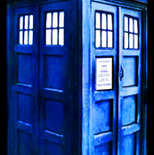 Doctor Who Inspired 3D TARDIS on Black Background