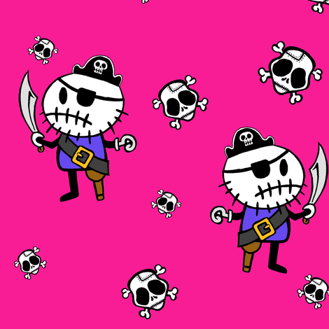 Pink ©Rocky the Zombie Pirate