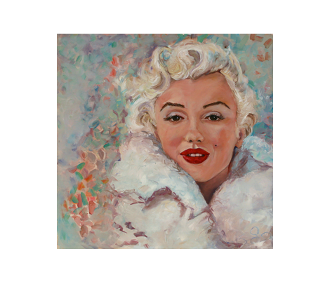Luscious Marilyn fabric by wsmahoney on Spoonflower - custom fabric