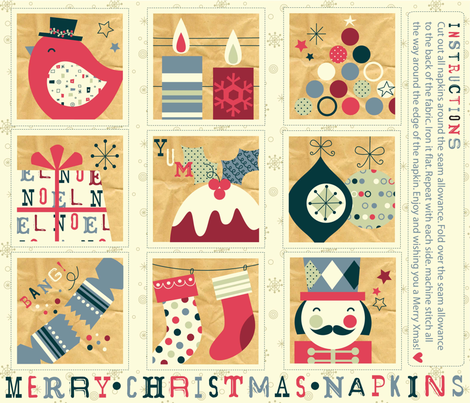 Tis the season fabric by amel24 on Spoonflower - custom fabric