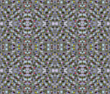 Runaway Squares in a mirror repeat fabric by anniedeb on Spoonflower - custom fabric