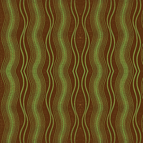 Earth Tides, green and brown-ch-ed fabric by materialsgirl on Spoonflower - custom fabric
