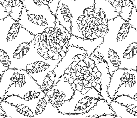 Briar Rose fabric by randomarticle on Spoonflower - custom fabric