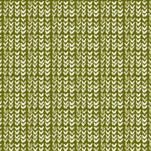 Hand Knit - 15 Olive Reverse