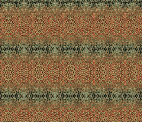 Tapestry Christmas - Antique Red and Green fabric by wren_leyland on Spoonflower - custom fabric