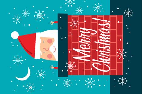Santa Wall Hanging fabric by edward_elementary on Spoonflower - custom fabric