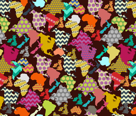GEOMETRIC WORLD fabric by scrummy on Spoonflower - custom fabric