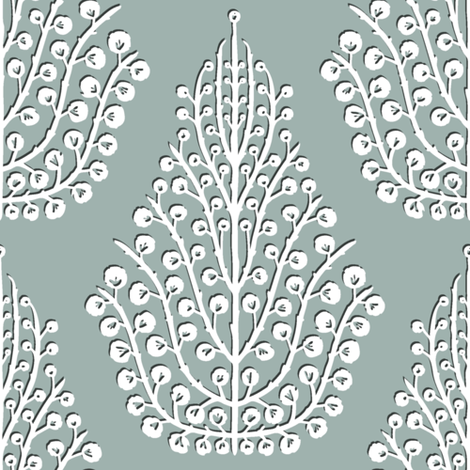 SPIRIT silver white fabric by scrummy on Spoonflower - custom fabric