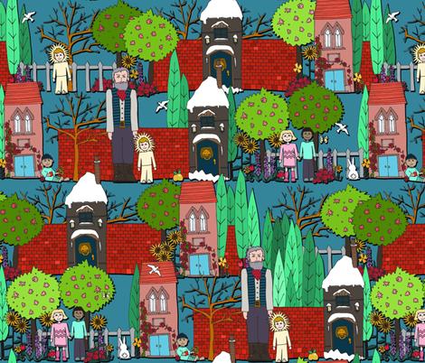 The Selfish Giant - Oscar Wilde (full color) fabric by scrummy on Spoonflower - custom fabric