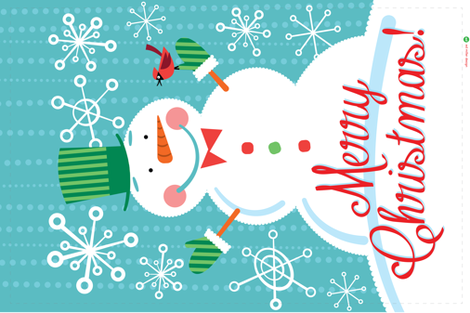 Snowman Wall Hanging fabric by edward_elementary on Spoonflower - custom fabric