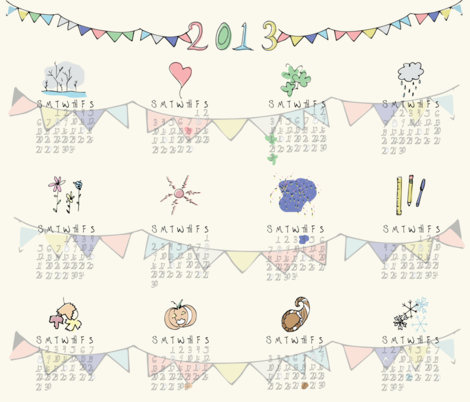 Banner Year fabric by joelkirei on Spoonflower - custom fabric