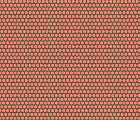London peach stall polka fabric by scrummy on Spoonflower - custom fabric