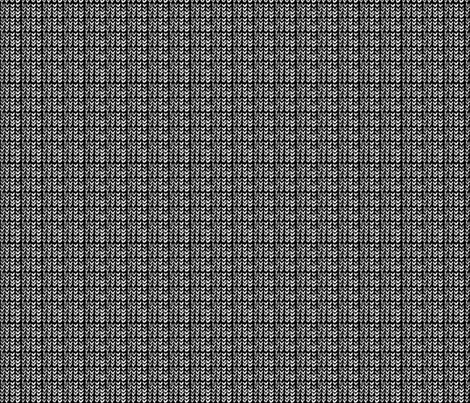 Custom Knit Fabric : Hand Knit - 19 Black Reverse fabric - katvanwin - Spoonflower