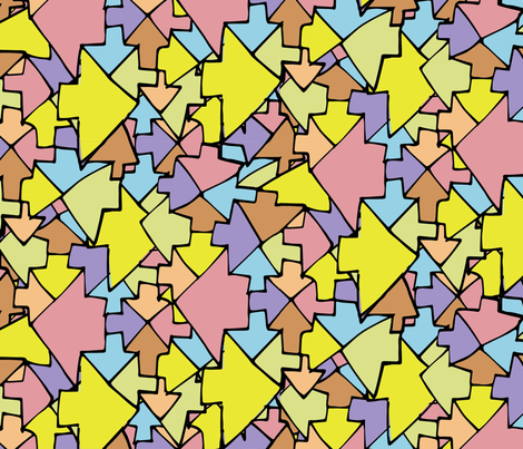 Geometric Arrows fabric by joelkirei on Spoonflower - custom fabric