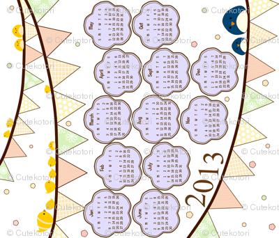 Happy Bunting 2013 Calendar